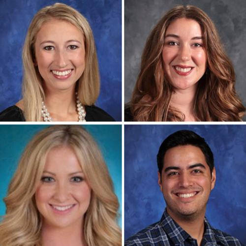 Headshots of Jill Leslie, Abigail Emery, Courtney Cameron, and Aaron Lozano