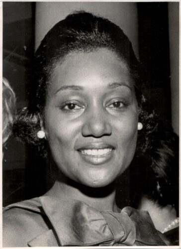 A back and white photograph of Albertine Bowie of the Class of 1956, one of the first African American women to graduate from Texas Law
