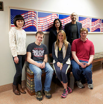 Six people representing the Civil Rights Clinic pictured