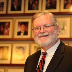 Glenn E. Johnson, winner of the Ernest E. Smith Lifetime Achievement Award for accomplishments in the field of energy law.