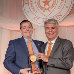 Daniel T. Hodge, pictured with President Fenves during an award ceremony.
