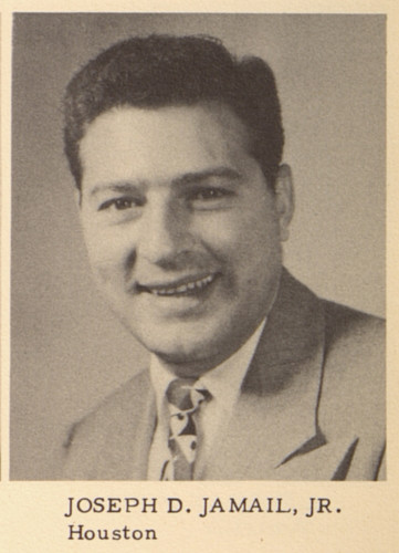 A photo of Joe Jamail one doesn't see often: his Texas Law yearbook photo.