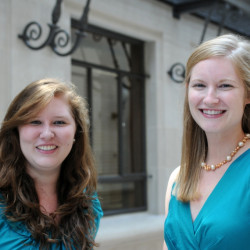 From left to right, Pro Bono Scholars Gwen Vindell, '13 and Meredith Kincaid, '13