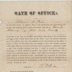 Oath of Office document