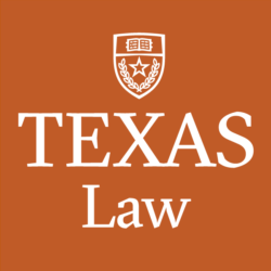 Texas Law logo, with an orange background and white letters.