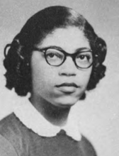 Gloria Bradford in the 1954 Peregrinus, the yearbook of the University of Texas School of Law.