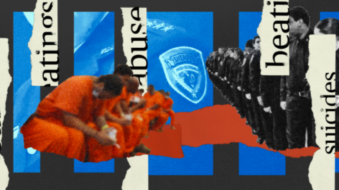 Graphic of inmates and officers