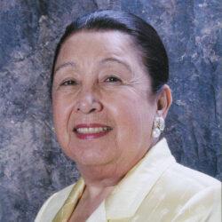 A color photo head shot of Teresa Lozano Long