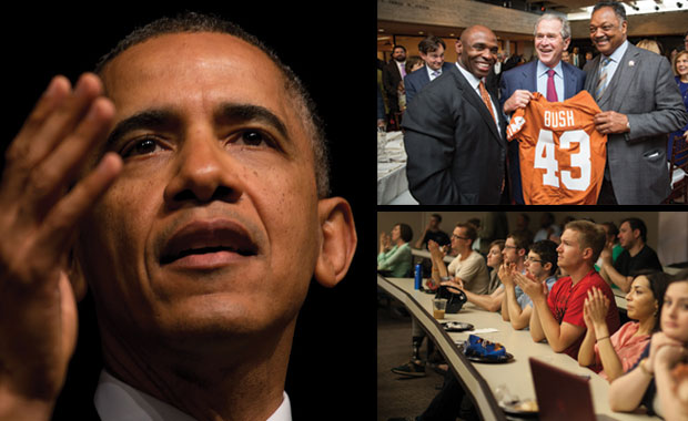 collage of photos from the civil rights summit