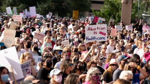 Pro-abortion protestors
