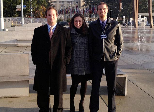 Clinic students in Geneva.