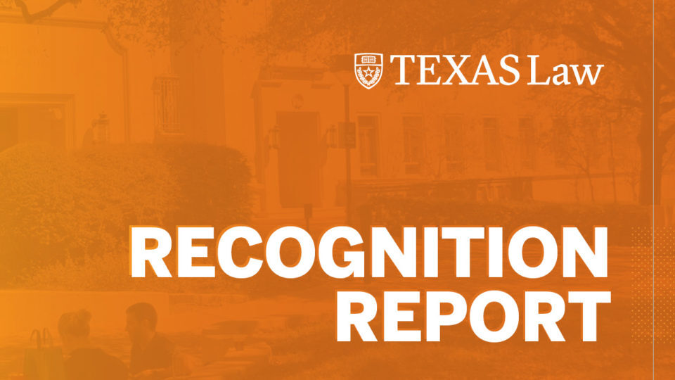 Texas Law Recognition Report