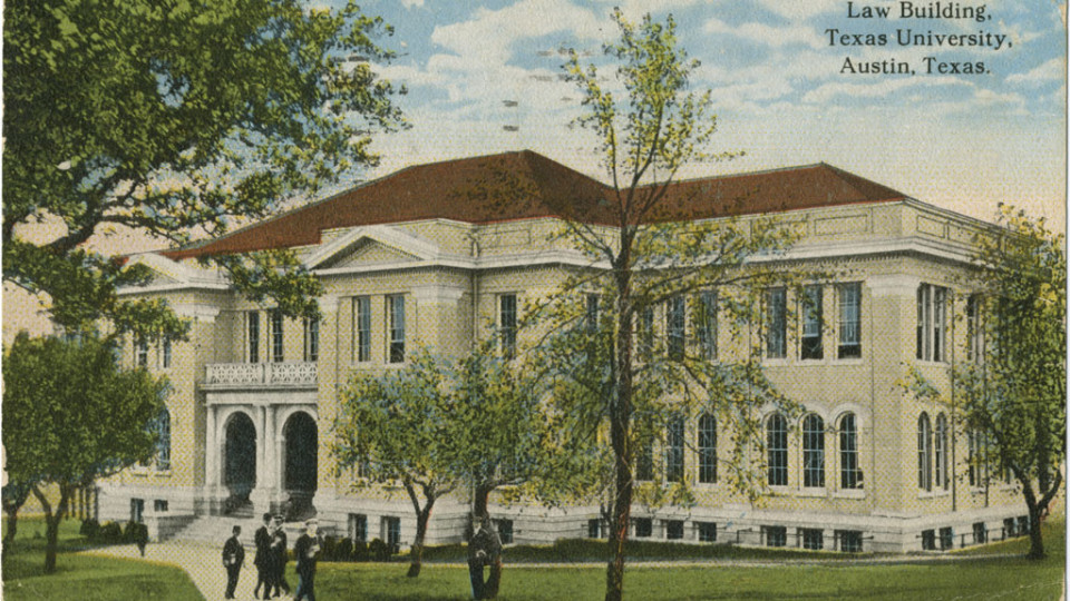 Historical rendering of the Law Building, Pearce Hall